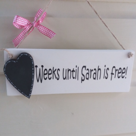 Personalised Countdown Plaque/Any wording